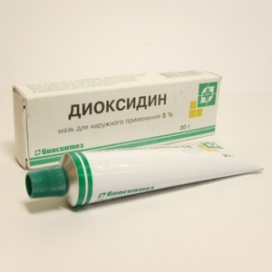 диоксидин мазь фото