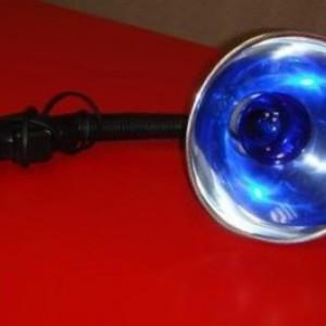 Синяя лампа при отите