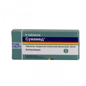 Азитромицин (сумамед) при отите